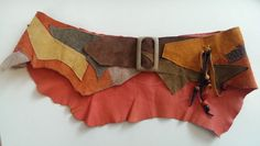 Belt made from leather scraps.  Gloucestershire Resource Centre http://www.grcltd.org/scrapstore/