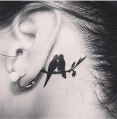 Behind The Ear Tattoo ❤️❤️