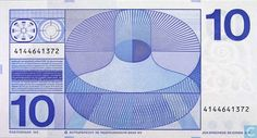 Bankbiljetten - Erflaters II - 10 gulden Nederland 1968