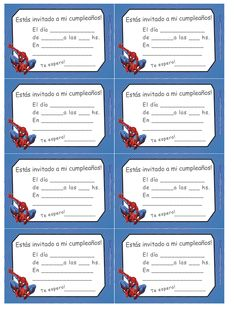 Invitaciones Cumpleaños Spiderman Para Fondo Celular En Hd 11 HD Wallpapers