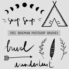 Free bohemian photoshop brushes
