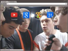 One Direction in a Huddle