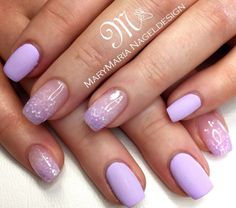 Lilac with Lilac Glitter Fade
