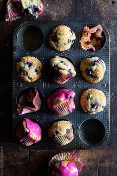 Blueberry Muffins #recipe from @bakersroyale