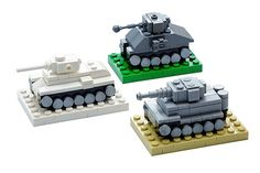 Fill your garage with the historic WW2 heroes. Mini Tank Set comes with M4, KV-1 and Tiger.  #lego