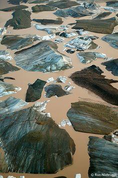 ✮ Icebergs from the Nizina Glacier, Wrangell St. Elias National Park, Alaska