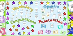 Ready Made VCOP Display Pack - This Ready Made VCOP Display Pack has everything you need to recreate this display in your own classroom or setting. Contains the correct display lettering and images and much more!