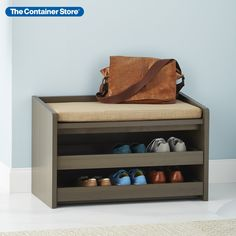 Add some more utility to your entryway with our beautiful and useful Rustic Driftwood Mercer Storage Bench. This piece has a well padded cushion for you to sit down and lace up your shoes, and when your shoes and socks aren't in use, you can roll out its two shelves to store them out of sight!