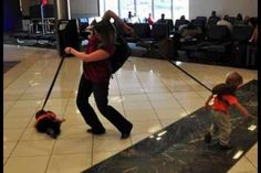 Anyone with multiple kids on leashes. | 25 People Who Are Having A Worse Time At The Airport Than You