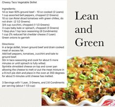 Lean and green recipes for the whole family. Visit www.staceyhawkins… for more… Lean and green recipes for the whole family. Visit www.staceyhawkins… for more low carb, lean and green recipes. Medifast Recipes, Healthy Eating Recipes, Low Carb Recipes, Cooking Recipes, Lean Recipes, Healthy Foods, Bariatric Recipes, Savory Foods, Ww Recipes