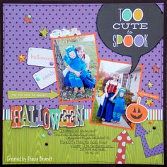 Halloween - Scrapbook.com - Made with Simple Stories Frankie and Friends collection.