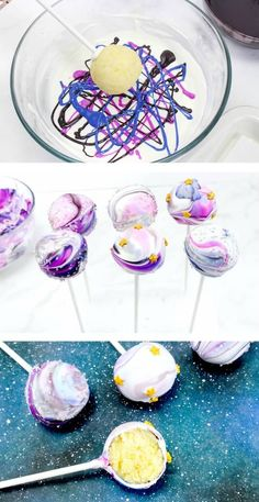 Galaxy Cake Pops (Simply without Baking - Eating - Party Food - . Galaxy Cake Pops (Easy Without Baking - Food - Party Food - bake . Comida Picnic, Bolo Original, Galaxy Cake, Food Galaxy, Galaxy Galaxy, Nacho Bar, Fiesta Baby Shower, No Bake Treats, Birthday Parties