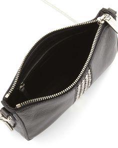 Studded Mini Shoulder Bag, Black