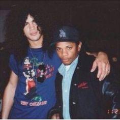 Rare pic of Eazy-e and slash.