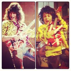 This little Eddie Van Halen is genius. Modern Kiddo - Where vintage and modern style for kids meet.