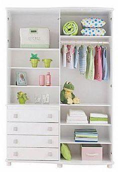 kids wardrobe just make sure you secure shelves to the wall so the won't tipover. Kids Wardrobe Storage, Wardrobe Wall, Wardrobe Organisation, Wardrobe Design, Baby Bedroom, Bedroom Wall, Girls Bedroom, Bedroom Ideas, Storage Shelves