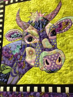 Jersey Girl Pattern by BJ Designs by FiberandFire on Etsy Applique Patterns, Applique Quilts, Quilt Patterns, Quilt Baby, Small Quilts, Mini Quilts, Farm Quilt, Cow Art, Animal Quilts