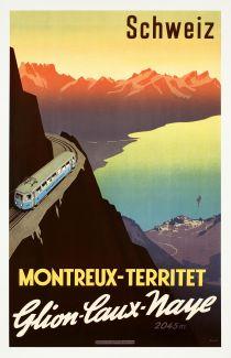 'Montreux-Territet- Glion-Caux-Naye', c. 1920