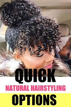 Check out these cute hairstyling option for your natural hair. #hairstyling #naturalhair Curly Updos For Medium Hair, Cute Short Natural Hairstyles, Protective Hairstyles For Natural Hair, Up Dos For Medium Hair, Natural Hair Updo, Natural Hair Styles For Black Women, Medium Hair Styles, Curly Hair Styles, Curly Short