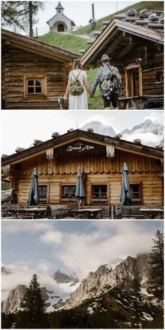 Weddings in the mountains on the Brandalm in Styria - Wellness Alm Chalet on the Brandalm Wedding Destination, Wedding Venues, Wellness, Bergen, Austria, Cabin, Mountains, House Styles, New York