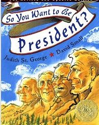 So You Want to be President? by Judith St. George/David Small Used it for my voting lesson with graders on election day. This Is A Book, The Book, Thing 1, Library Lessons, Library Ideas, Children's Library, Free Library, School Videos, Teaching Social Studies