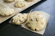 coconut flour choco chip cookies