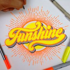 Can't wait to visit the beach this weekend! Graffiti Lettering Fonts, Hand Lettering Fonts, Lettering Styles, Typography Letters, Lettering Design, Design Fonte, Design Art, Calligraphy Letters, Typography Inspiration