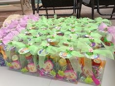 at a Tinkerbell Party Garden Birthday, Fairy Birthday Party, 4th Birthday Parties, Princess Birthday, 3rd Birthday, Birthday Ideas, Tinker Bell, Fairy Party Favors, Tinkerbell Party