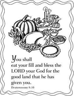 Psalm 136 1 Give Thanks Coloring Page Fall Pinterest