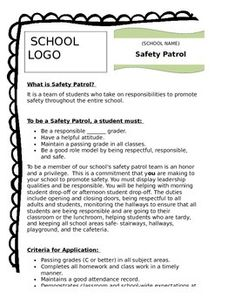 e5260c26beda910cb5ccc9246cc22813--counseling-safety Safety Patrol Application Letter on essay examples, application form, letter for, acceptance letter,