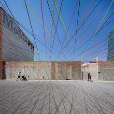 MoMA PS1 YAP 2016 - Weaving the Courtyard / Escobedo Soliz Studio