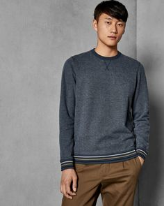Explore men's tops in Ted's outlet range, showing off stylish tees to smart polo shirts from previous seasons to top off any look with finesse. Ted Baker Stores, Designer Clothes For Men, Luxury Bags, British Style, Mens Sweatshirts, Blue Tops, Knitwear, Men Sweater, Man Shop