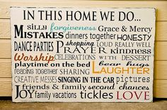 want to make one like this for our family mission/purpose statement