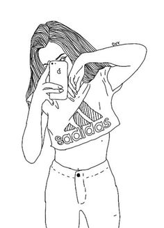 Draw, fashion, and girl image hipster girl drawing, hipster tekeningen, tek Hipster Girl Drawing, Tumblr Girl Drawing, Tumblr Sketches, Girl Drawing Sketches, Tumblr Drawings, Girly Drawings, Outline Drawings, Girl Sketch, Pencil Art Drawings