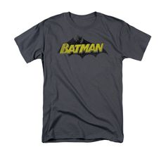 Batman - Classic Comic Logo Adult Regular Fit T-Shirt