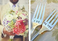 I don't, but I do like this....I Do. Me Too. Vintage Wedding Fork Set. Featured In Martha Stewart Weddings May 2011