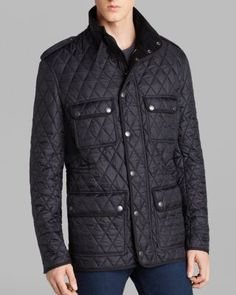 Burberry Brit Russell Diamond Quilted Jacket | Bloomingdale's