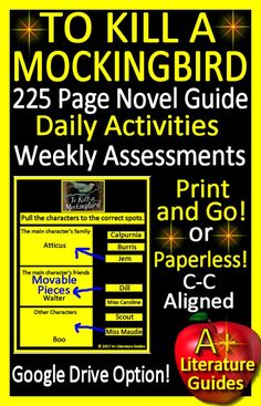 Digital Resource - 225 Page Literature Guide with Google Drive Option - Paperless or Print and Go - Daily Activities, Weekly Assessments, Common Core Aligned, interactive activities, writing assignments and so much more!