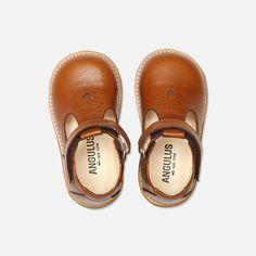 T-Bar Heart Toddler Shoes - Cognac - 20 (UK 4) - 24 (UK 7)