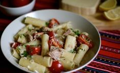 What could be easier on a warm summer night than this fresh and zesty no-cook pasta sauce? Simply boil your choice of pasta, toss it all together and serve at room temperature with the setting sun. Tuna Pasta, Penne Pasta, Kidspot Recipes, Online Cookbook, How To Cook Pasta, Cherry Tomatoes, Pantry, Warm, Sun