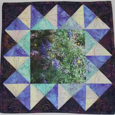 Art Quilt Mountain Flowers by QuiltArtbyRhonda on Etsy, $115.00