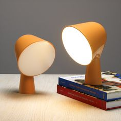 Like characters out of a Miyazaki movie! I almost want to pet them... Adorable desk lamps!