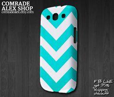 Chevron Pattern Samsung Galaxy S III Hardshell Case. $16.88, via Etsy.   Cute! Perfect summer cover!