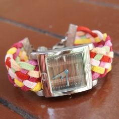 A tutorial on how to weave a watch band