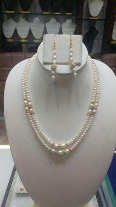 Hyderabad pearl's 1500/- Mail us biradar.nandukishore@gmail.com Pearl Jewelry, Wire Jewelry, Jewelry Crafts, Beaded Jewelry, Jewelry Box, Jewelry Necklaces, Handmade Jewelry, Thread Jewellery, Girls Necklaces