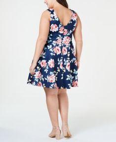 City Studios Plus Size Lace & Floral Fit & Flare Dress - Orange Fit Flare Dress, Fit And Flare, Daytime Dresses, White Midi Dress, Plus Size Activewear, Dresses With Leggings, Trendy Plus Size, Plus Size Dresses, Dresses Online