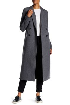 Double Breasted Fleece Overcoat by James Perse on @nordstrom_rack