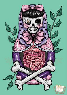 Zombie Russian Doll Illustration from Ella Mobbs <3…