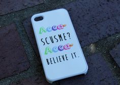 """Acca-Scusme? Acca- Believe It."" Case by Good Vibe Cases. This case comes in white plastic. If you would like this design in rubber, check out our rubber case listing for the iPhone 4/4S and 5/5S under the tab ""SHOP ALL"". Our rubber cases ($16) are only $1 more than plastic cases, and they offer ..."