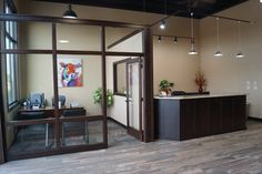 office and reception area